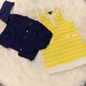 Tommy Hilfiger Girls Dress and Cardigan